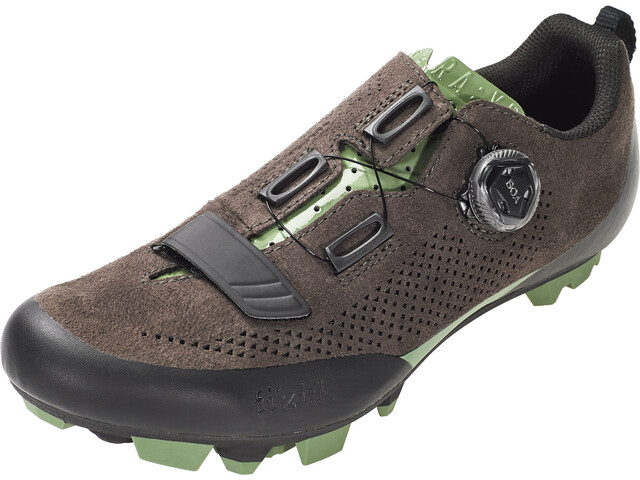 Fizik Terra X5 Suede Zapatillas MTB, dark brown/sage green